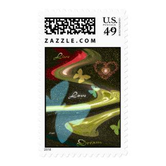 Live, Love, Dream 2 Postage Stamp