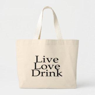 Live Love Drink Jumbo Tote Bag
