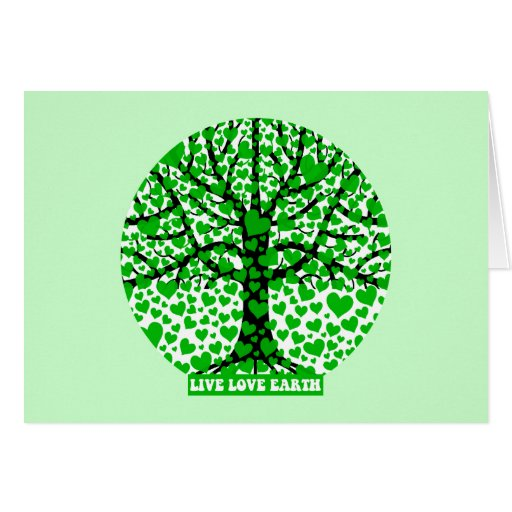 live love earth greeting card