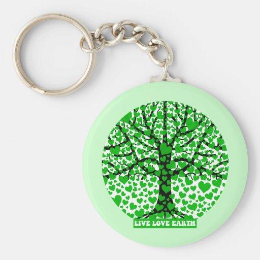 live love earth keychains