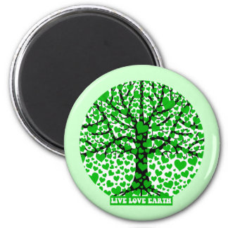 live love earth magnet