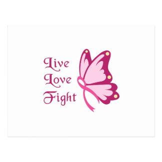 Live Love Fight Postcard
