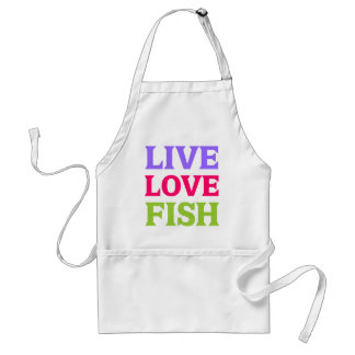 Live Love Fish Bright Adult Apron