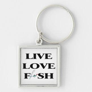 Live Love Fish Keychain