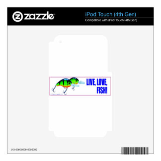 Live Love Fish iPod Touch 4G Decal