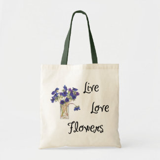 Live Love Flowers Bags