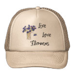 Live Love Flowers Hats