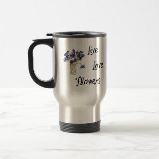 Live Love Flowers mug