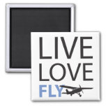 Live Love Fly 2 Inch Square Magnet