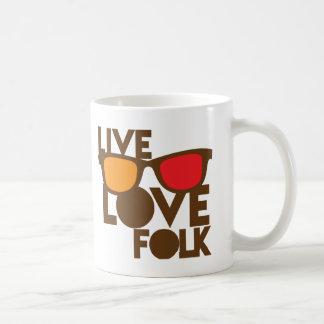 Live LOVE FOLK music Coffee Mug