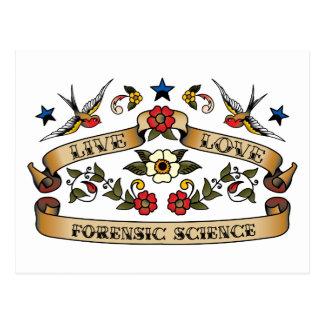 Live Love Forensic Science Postcard