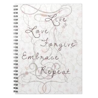 Live love forgive notebook