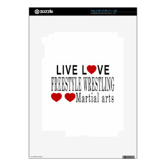 LIVE LOVE FREESTYLE WRESTLING MARTIAL ARTS DECALS FOR THE iPad 2