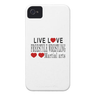 LIVE LOVE FREESTYLE WRESTLING MARTIAL ARTS iPhone 4 COVER