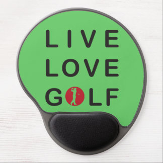 Live love golf gel mouse pad. gel mouse pad