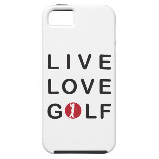 Live Love Golf Golfing Red Black iPhone 5 Case