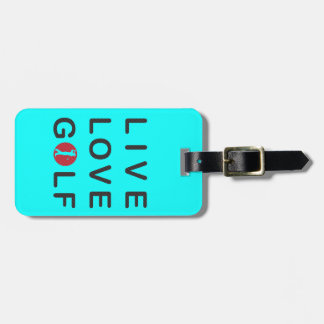 Live Love Golf Golfing Red Black Tag For Luggage