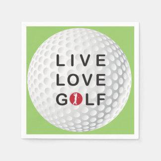 live, love golf napkins