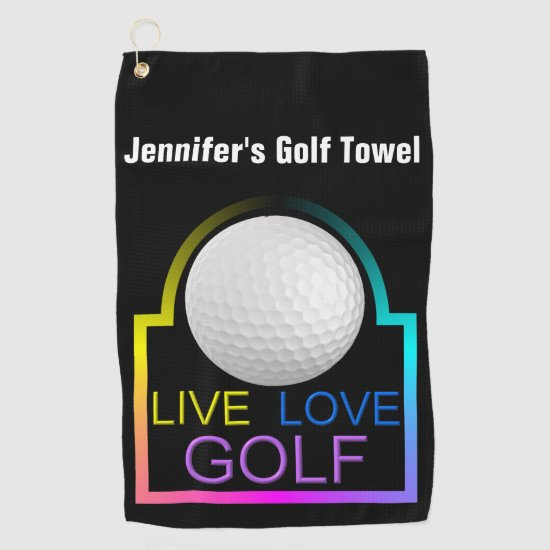 Live Love Golf - Personalized Golf Towel