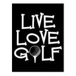 Live, Love, Golf Postcard