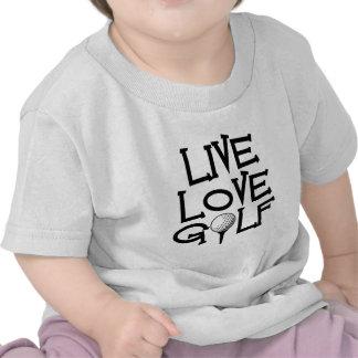 Live, Love, Golf Shirts