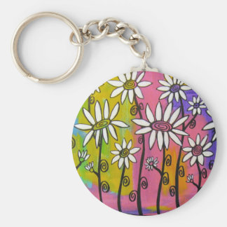 LIVE LOVE GROW Daisy Products Basic Round Button Keychain