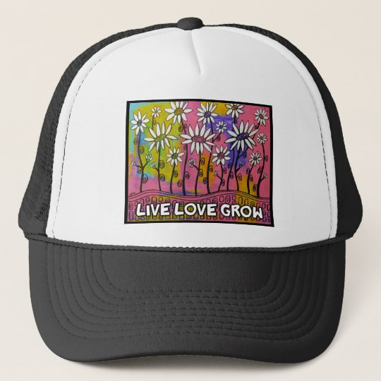 LIVE LOVE GROW Daisy Products Trucker Hat