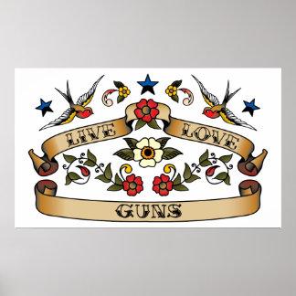 Live Love Guns Posters