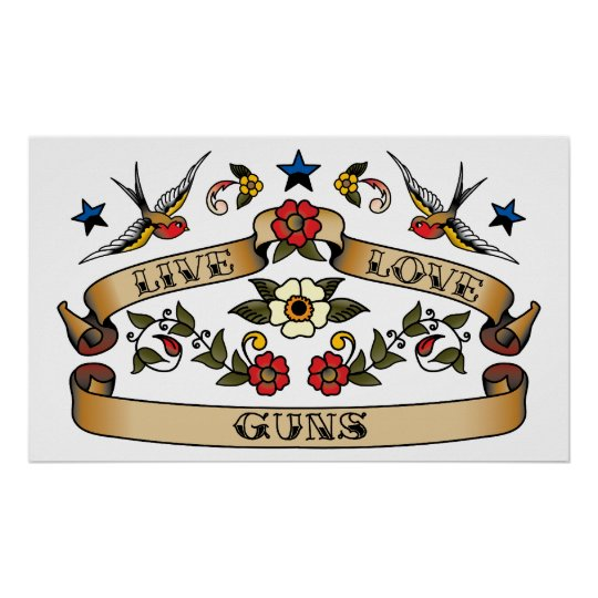 Live Love Guns Poster