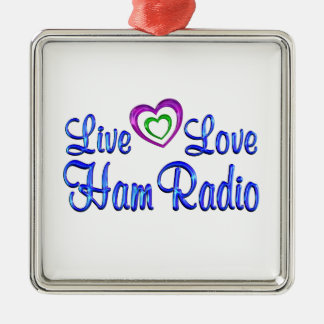 Live Love Ham Radio Ornaments