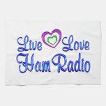 Live Love Ham Radio Towel