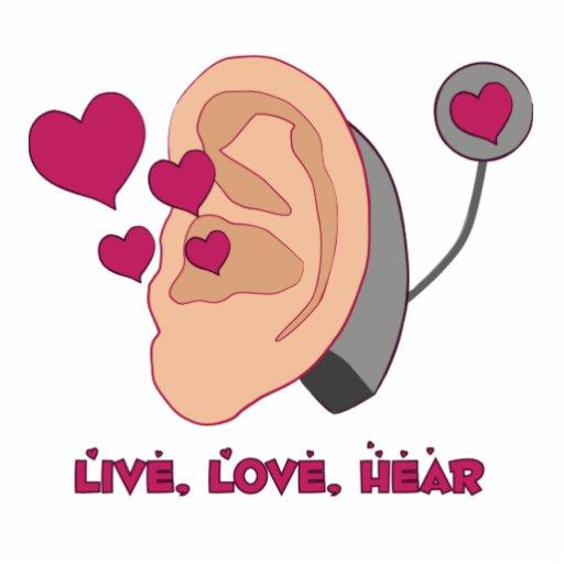 Live Love Hear Magnet Photo Cut Outs
