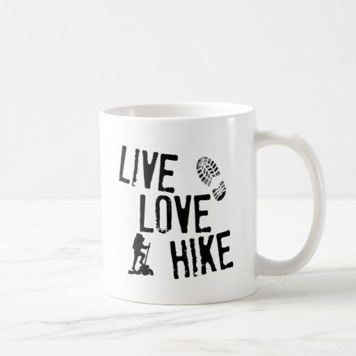 Live, Love, Hike Classic White Coffee Mug