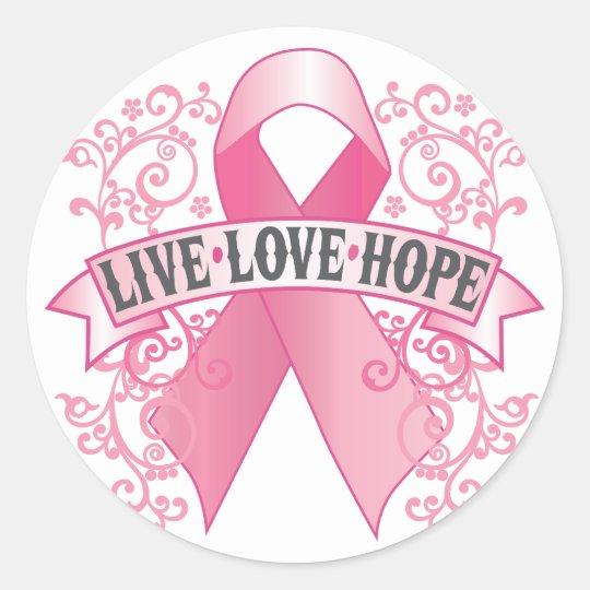 Live Love Hope Classic Round Sticker