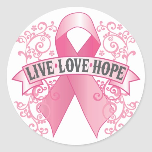 Live Love Hope zazzle_sticker