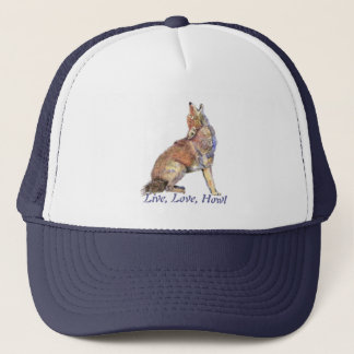 Live Love Howl Fun Quote Howling Coyotes Trucker Hat
