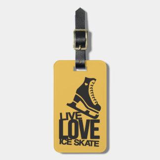Live Love Ice Skate | Figure skating Bag Tags