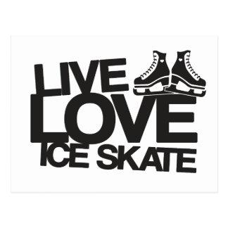 Live Love Ice Skate | Figure skating Postcard