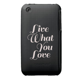 Live Love Inspirational Quote Gift Black iPhone 3 Case