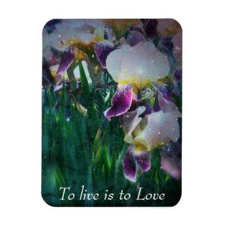 Live Love Iris Magnet