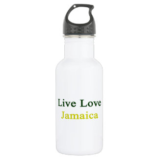 Live Love Jamaica 18oz Water Bottle