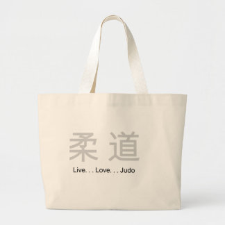 Live Love Judo Large Tote Bag
