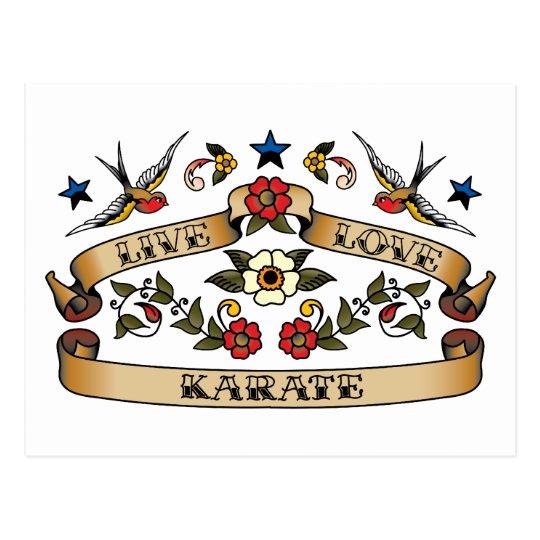 Live Love Karate Postcard
