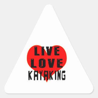 Live Love Kayaking Sticker