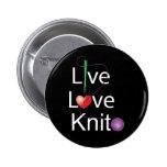 Live Love Knit 2 Inch Round Button