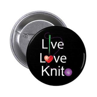 Live Love Knit Button