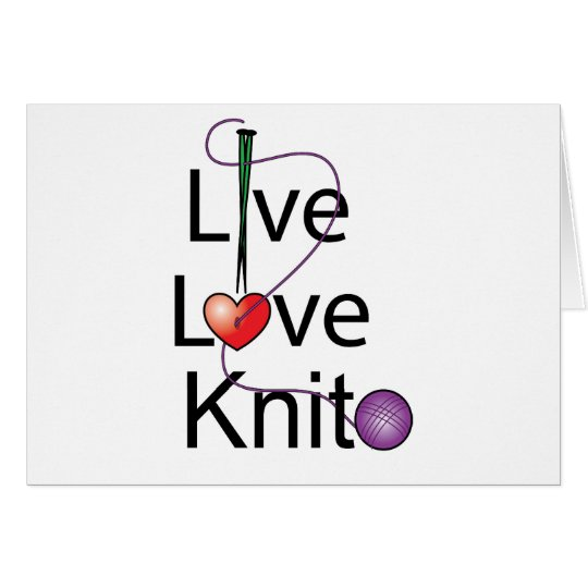 Live Love Knit Card