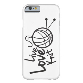Live Love Knit | Knitting Barely There iPhone 6 Case