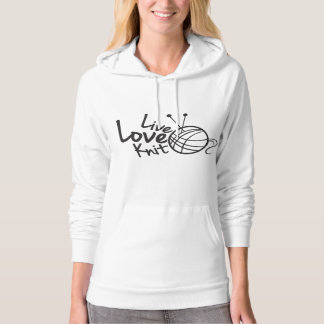 Live Love Knit | Knitting Hoodie