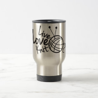 Live Love Knit | Knitting Travel Mug